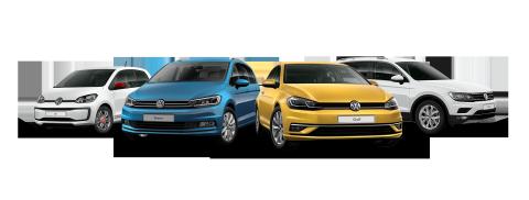 Vier Volkswagen